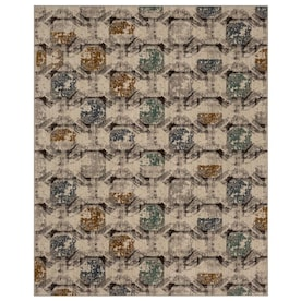 Scott Living Earthstone 5 X 8 Oyster Indoor Geode Global Area Rug In The Rugs Department At Lowes Com