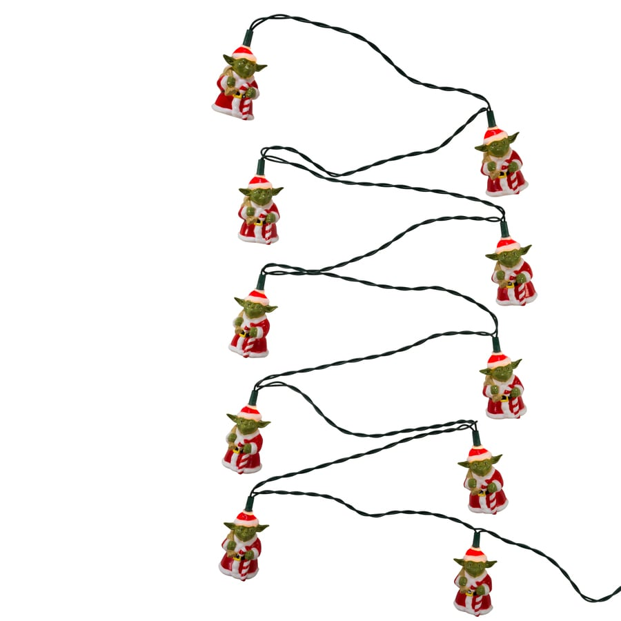 star wars yoda 10 count 9 ft constant white christmas plug in indoor