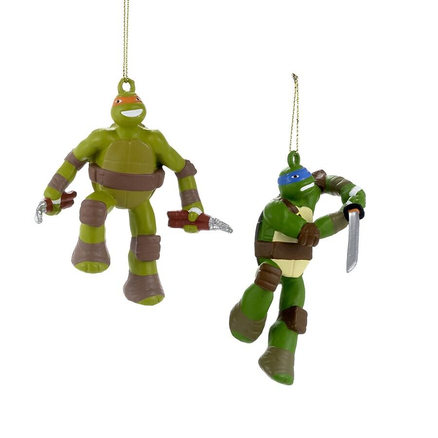 Teenage Mutant Ninja Turtles 2-Pack Painted Teenage Mutant Ninja Turtles Ornament Set (Unlit) (Unlit) Lights