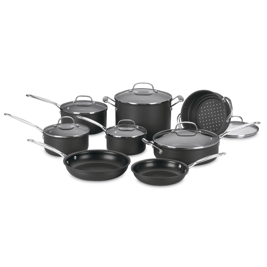 Cuisinart 14-Piece Chef's Classic Aluminum Cookware Set with Lids