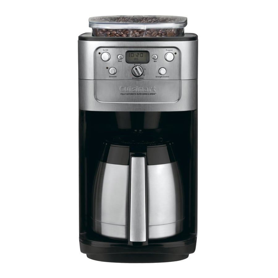Shop Cuisinart Grind and Brew 12-Cup Black and Chrome Programmable Coffee Maker at Lowes.com