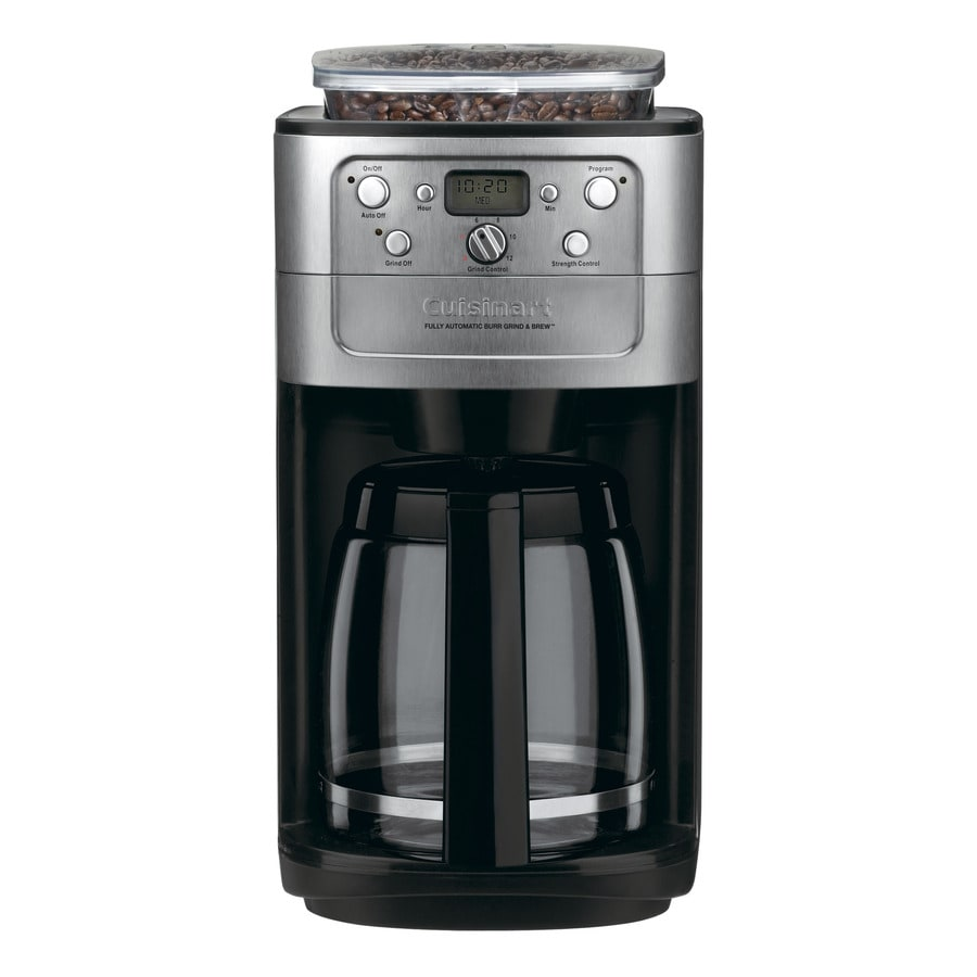 Cuisinart Grind and Brew 12-Cup Black and Chrome Programmable Coffee Maker