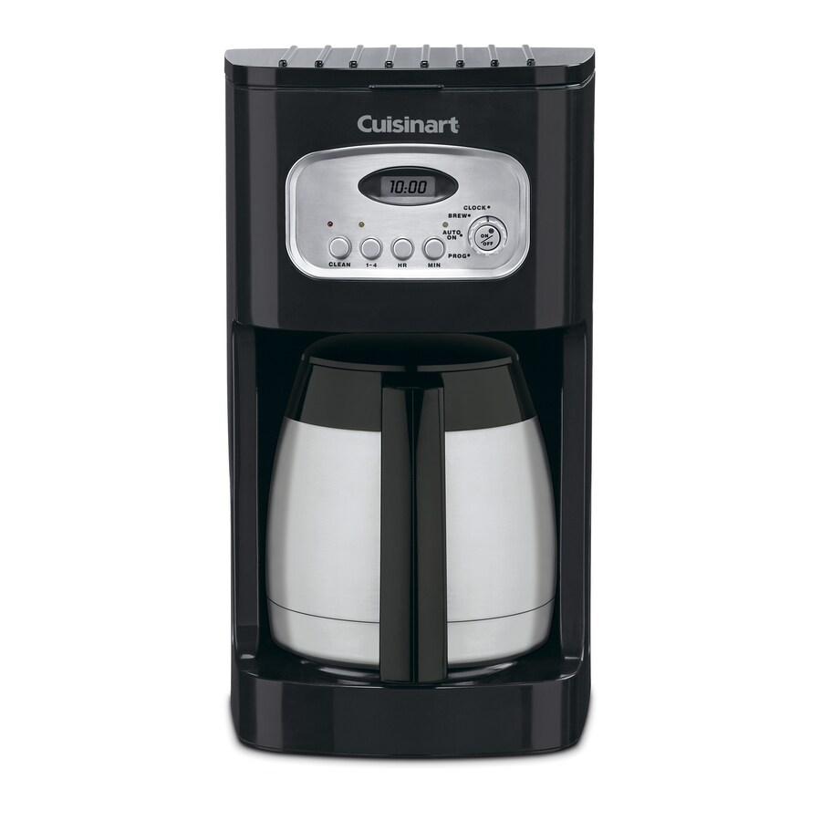Shop Cuisinart 10-Cup Black Programmable Coffee Maker at Lowes.com
