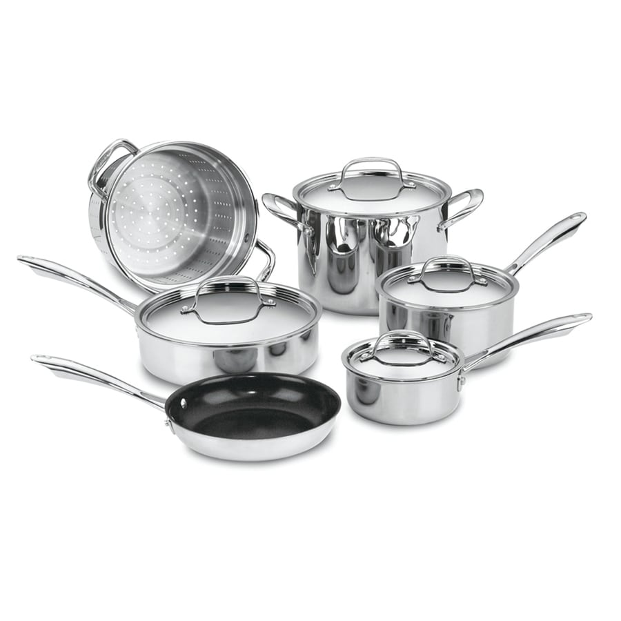 Cuisinart 10-Piece Chef's Classic Aluminum Cookware Set with Lids