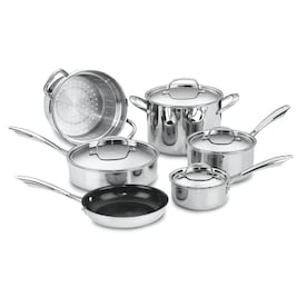 Cuisinart 10-Piece Chefs Classic 10.5-in Aluminum Cookware Set with Lid(s) Included