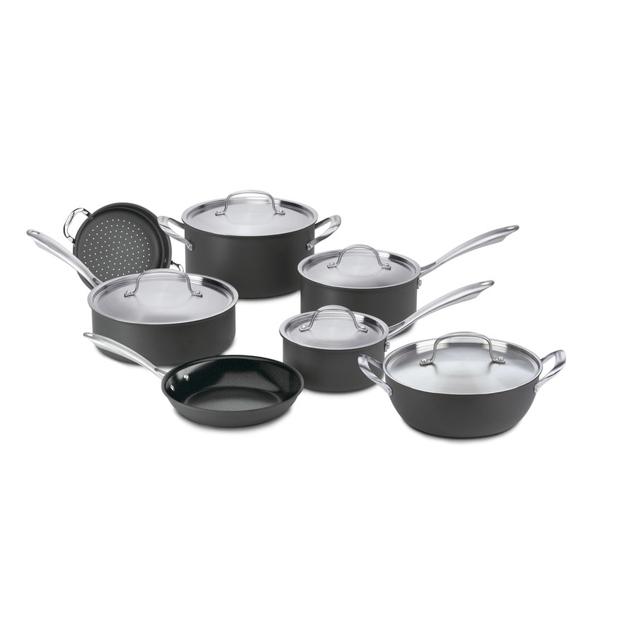 Cuisinart 12-Piece GreenGourmet Aluminum Cookware Set with Lids