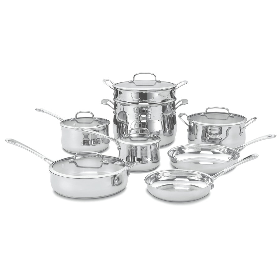 Shop Cuisinart 14.25-in Stainless Steel Cookware Set With