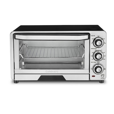 Cuisinart 6-Slice Silver Toaster Oven with Auto Shut-Off at