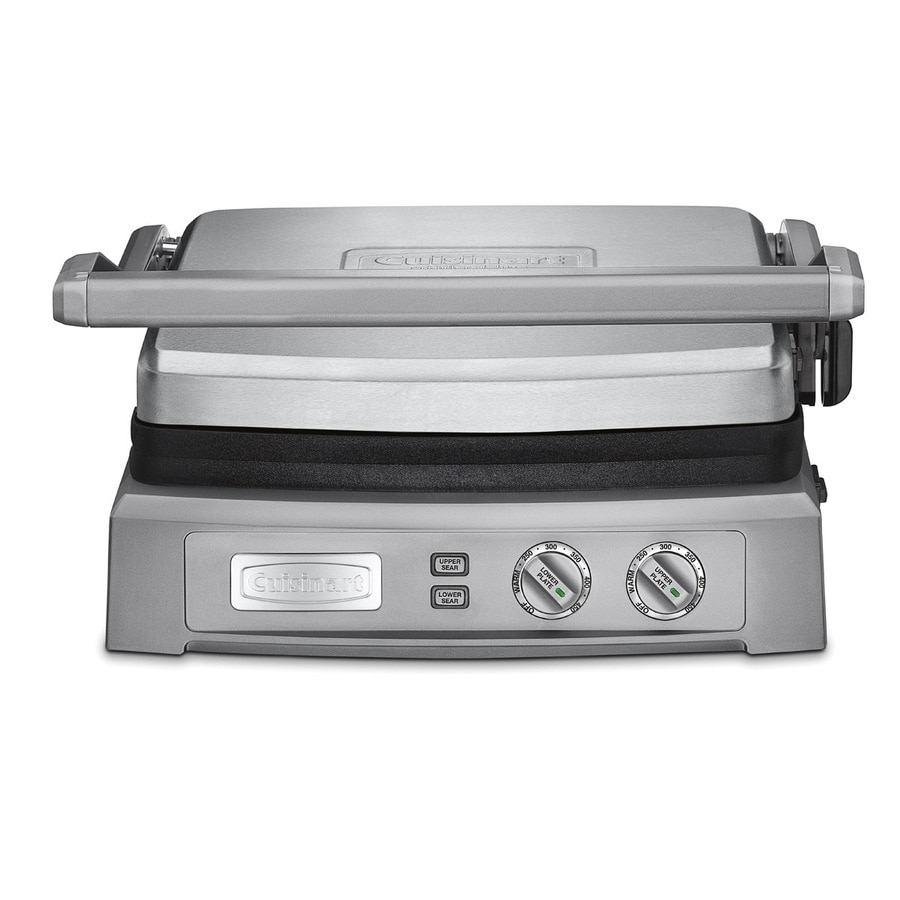Cuisinart 15-in L x 16-in W 1,800-Watt Stainless Steel Foldable Electric Griddle