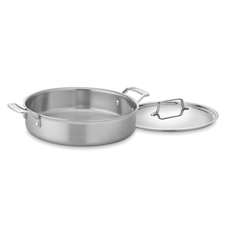 Cuisinart 1-Piece MultiClad 13-in Stainless Steel Baking Pan with Lid