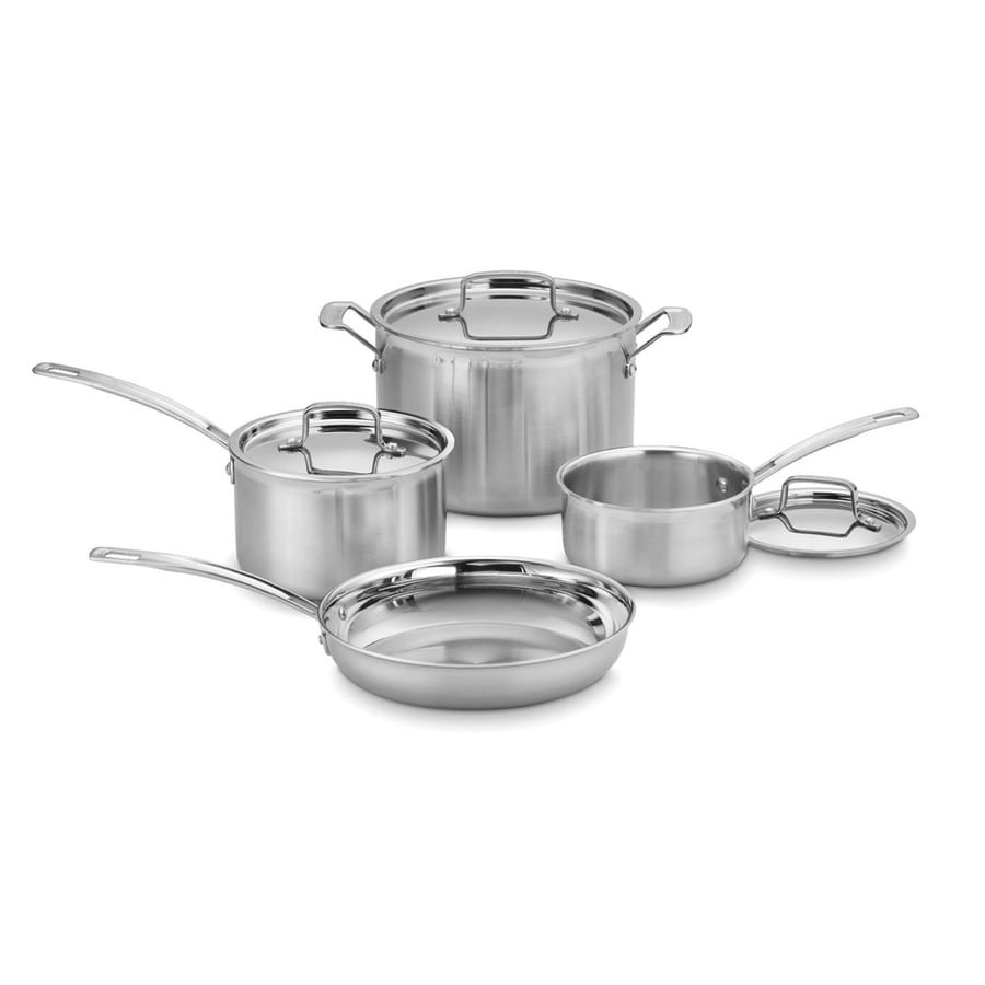 Cuisinart MultiClad Stainless Steel Cookware Set with Lid