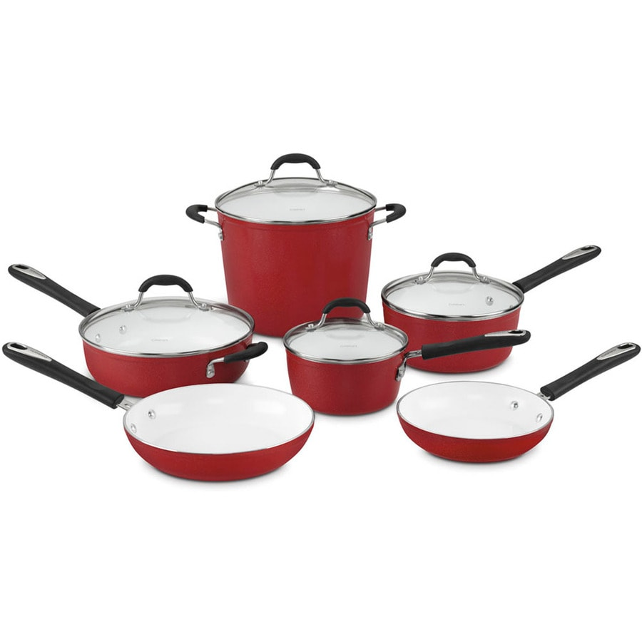 Cuisinart 10-Piece Element Ceramic Cookware Set with Lids