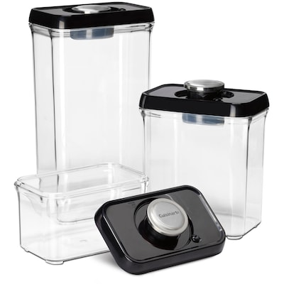 Cuisinart 3-Piece Multisize Plastic Food Storage Container ...