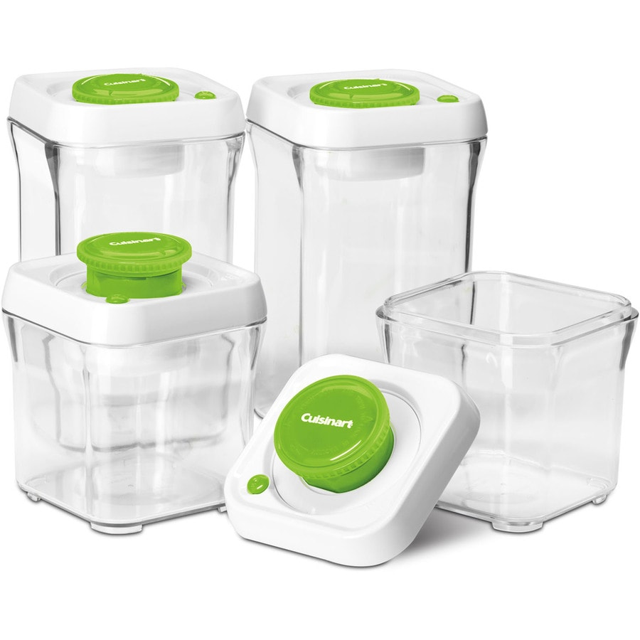 Shop Cuisinart 4 Piece Plastic Food Storage Container At Lowes Com