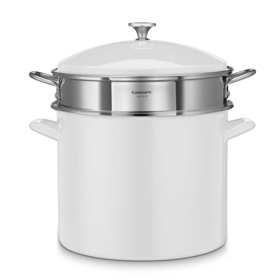 Cuisinart 20-Quart Aluminum Stock Pot with Lid and Basket