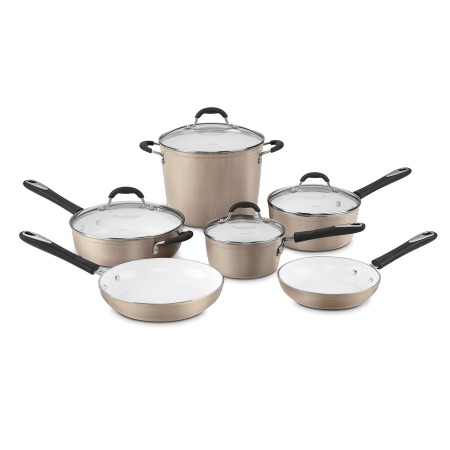 Cuisinart 10-Piece Elements Aluminum Cookware Set Lid(s) Included