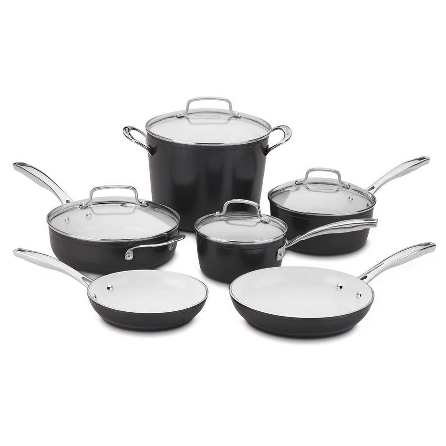 Cuisinart 10-Piece Elements 24-in Aluminum Cookware Set with Lid