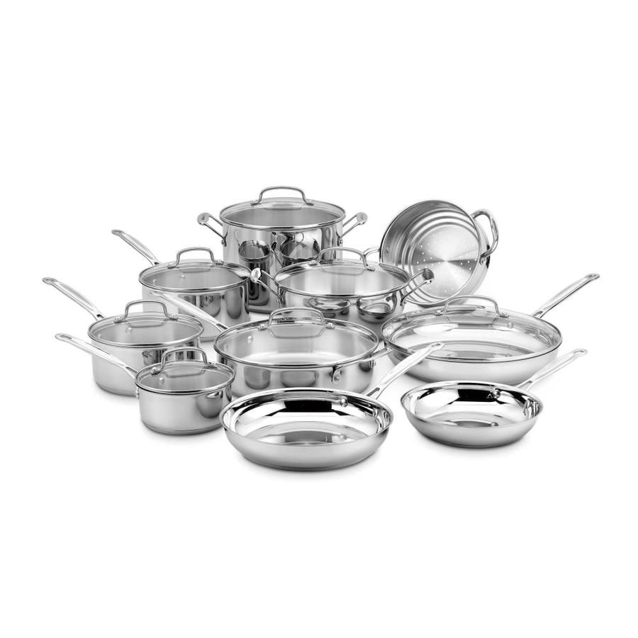 Cuisinart 17-Piece Chef's Classic Stainless Steel Cookware Set Lid(s) Included