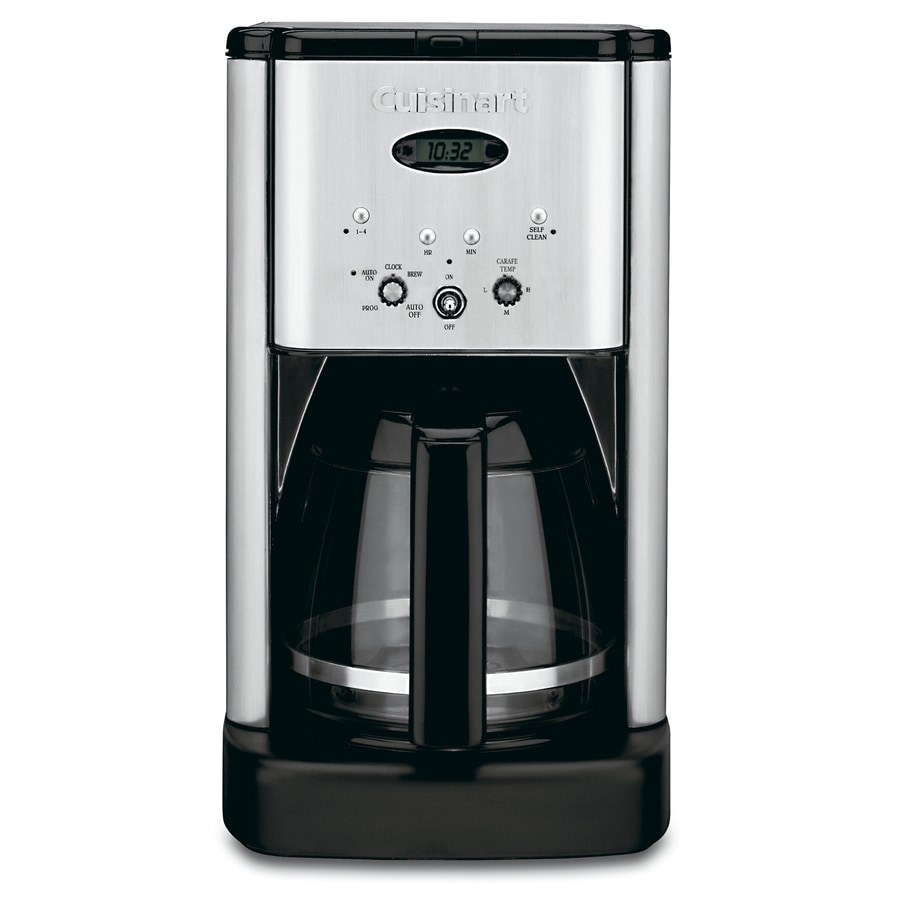 cuisinart 12 cup coffee maker shop cuisinart 12 cup stainless steel programmable coffee 29420