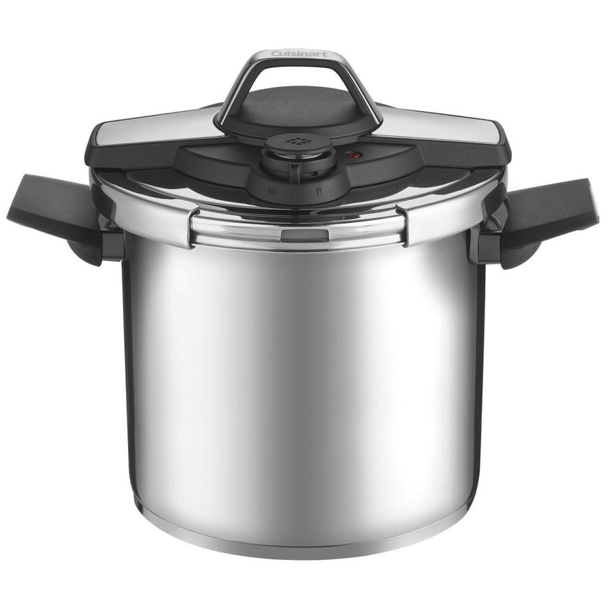 shop cuisinart 8 quart stainless steel stove top pressure cooker at. Black Bedroom Furniture Sets. Home Design Ideas
