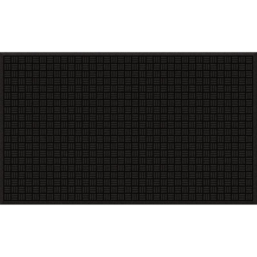 Blue Hawk Black/Recycled Rubber Rectangular Door Mat (Common: 36-in x 60-in; Actual: 36-in x 60-in)