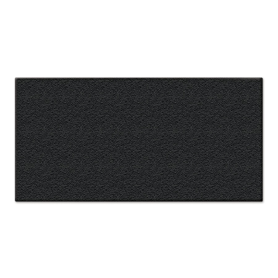 Apache Mills  Inc  Black Rectangular Utility Mat  Common  4 ft X. Shop Mats at Lowes com