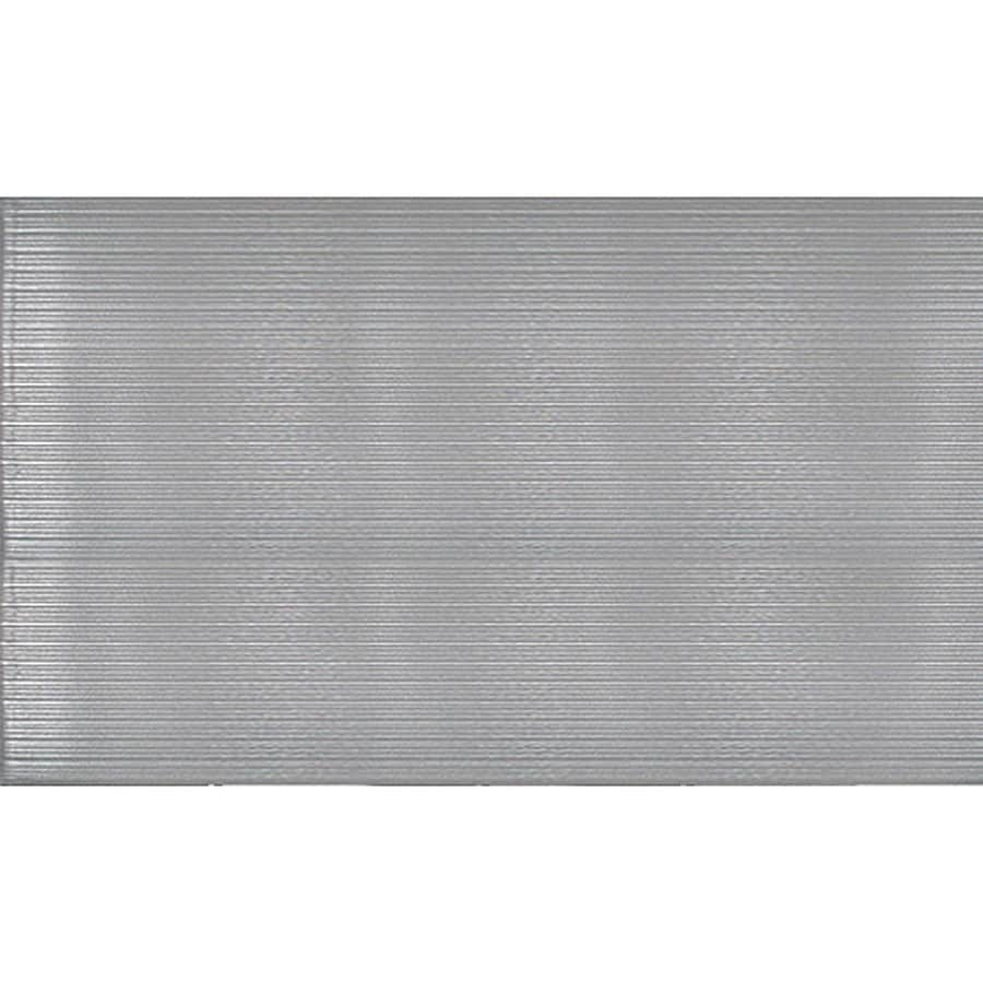Blue Hawk Gray Rectangular Anti-fatigue Mat (Common: 3-ft X 5-ft; Actual: 36-in x 60-in)