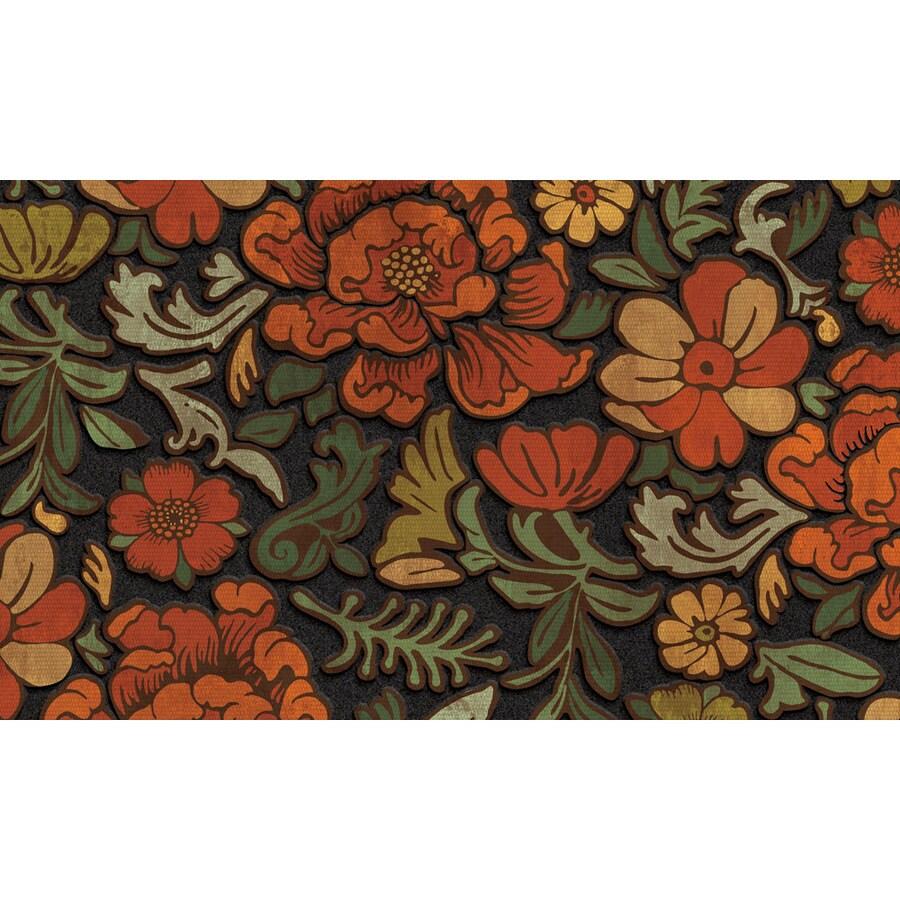 Apache Mills, Inc. Red/Orange/Green Rectangular Door Mat (Common: 18-in x 30-in; Actual: 18-in x 30-in)