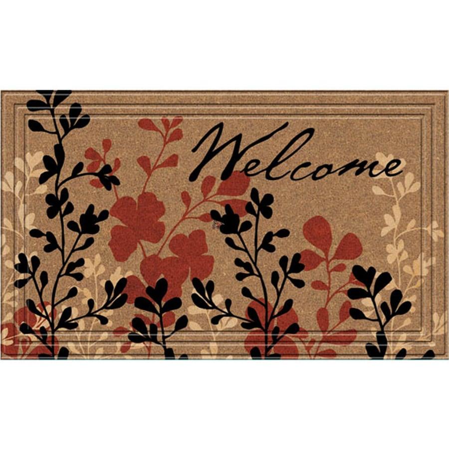 Style Selections Tan/Red/Black Rectangular Door Mat (Common: 18-in x 30-in; Actual: 18-in x 30-in)