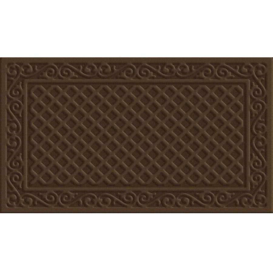 Style Selections Coffee Rectangular Door Mat (Common: 18-in x 30-in; Actual: 18-in x 30-in)