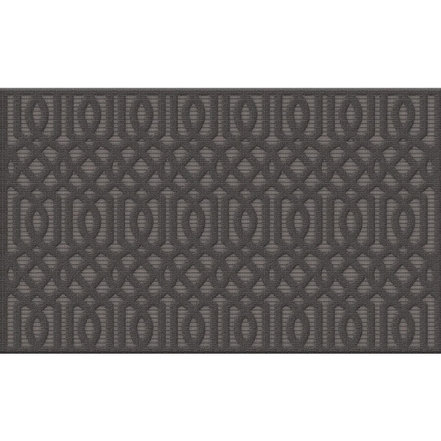 Apache Mills, Inc. Casablanca Smoke Rectangular Door Mat (Common: 24-in x 36-in; Actual: 24-in x 36-in)