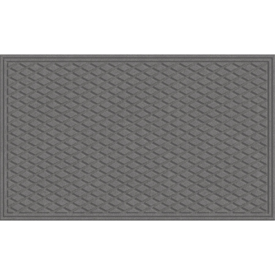 Blue Hawk Smoke Rectangular Door Mat (Common: 24-in x 36-in; Actual: 24-in x 36-in)