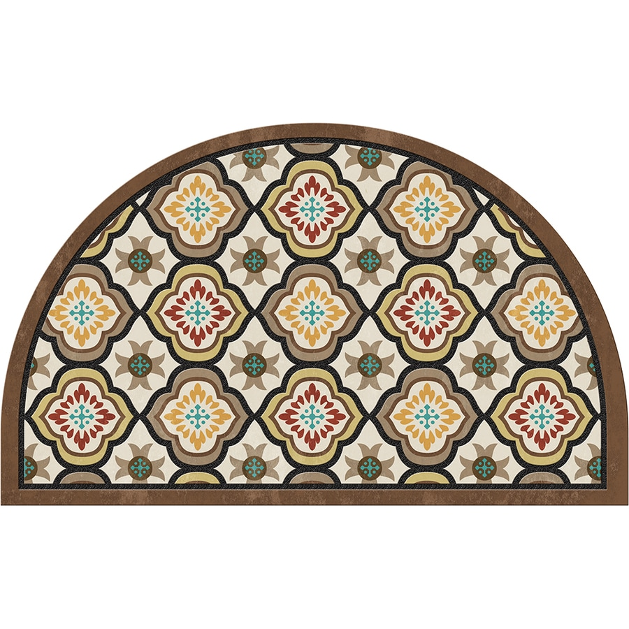 Apache Mills, Inc. Semicircle Door Mat (Common: 1 1/2-ft X 2 1/2-ft; Actual: 18-in x 30-in)