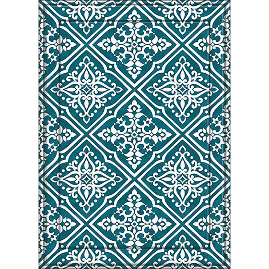 Apache Mills, Inc. Lexington Elise Blue Rectangular Indoor and Outdoor Woven Area Rug