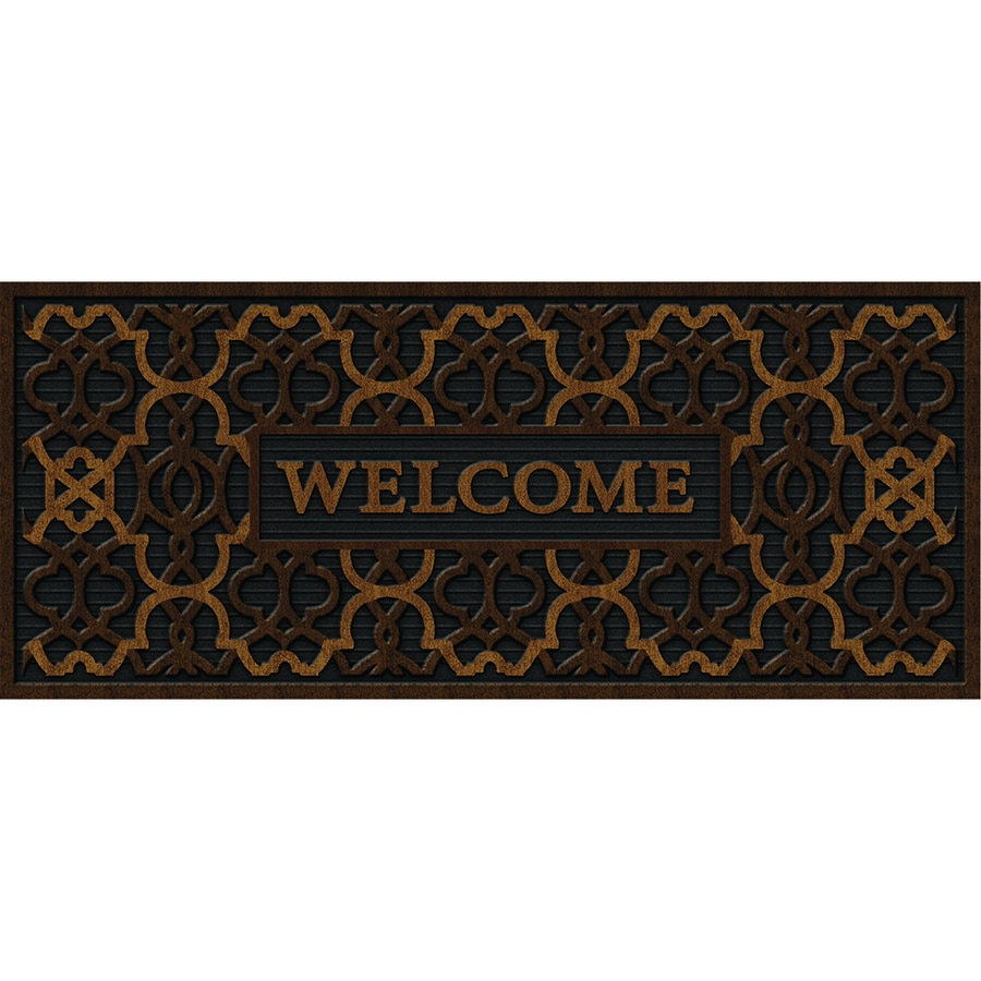 Apache Mills, Inc. Welcome Geo Rectangular Door Mat (Common: 20-in x 48-in; Actual: 20-in x 47-in)