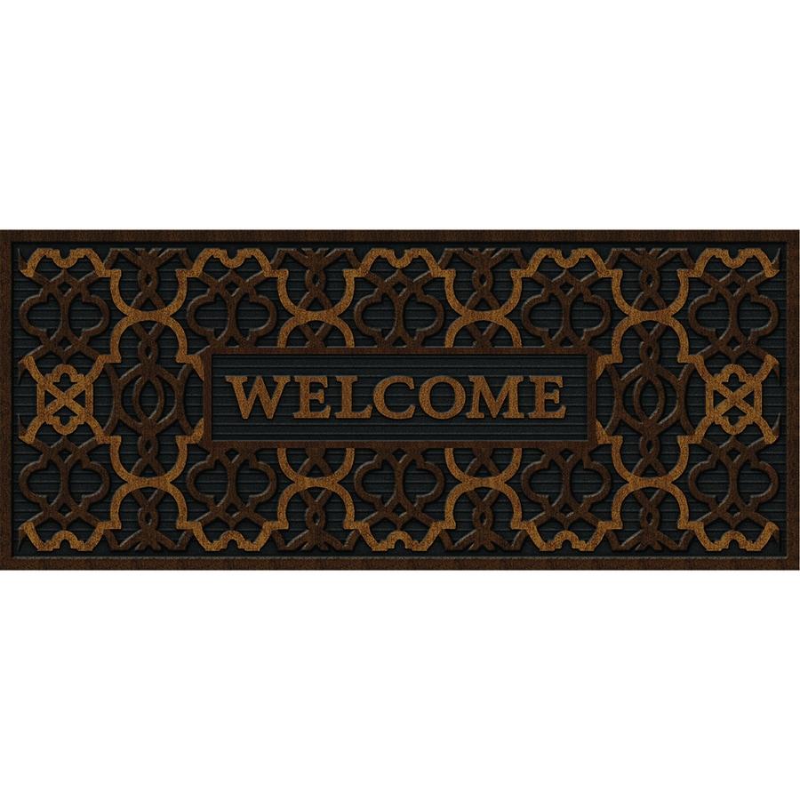 Apache Mills, Inc. Brown Rectangular Door Mat (Common: 2-ft x 4-ft; Actual: 20-in x 47-in)