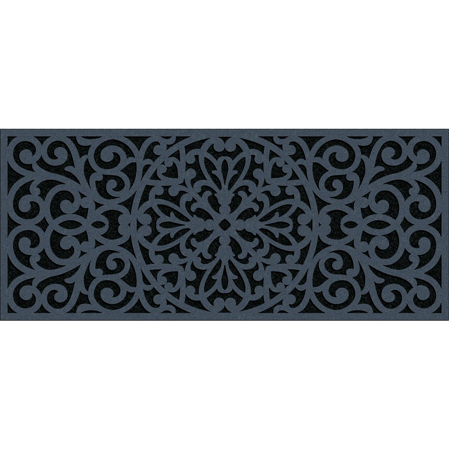 Apache Mills, Inc. Gray Rectangular Door Mat (Actual: 20-in x 47-in)