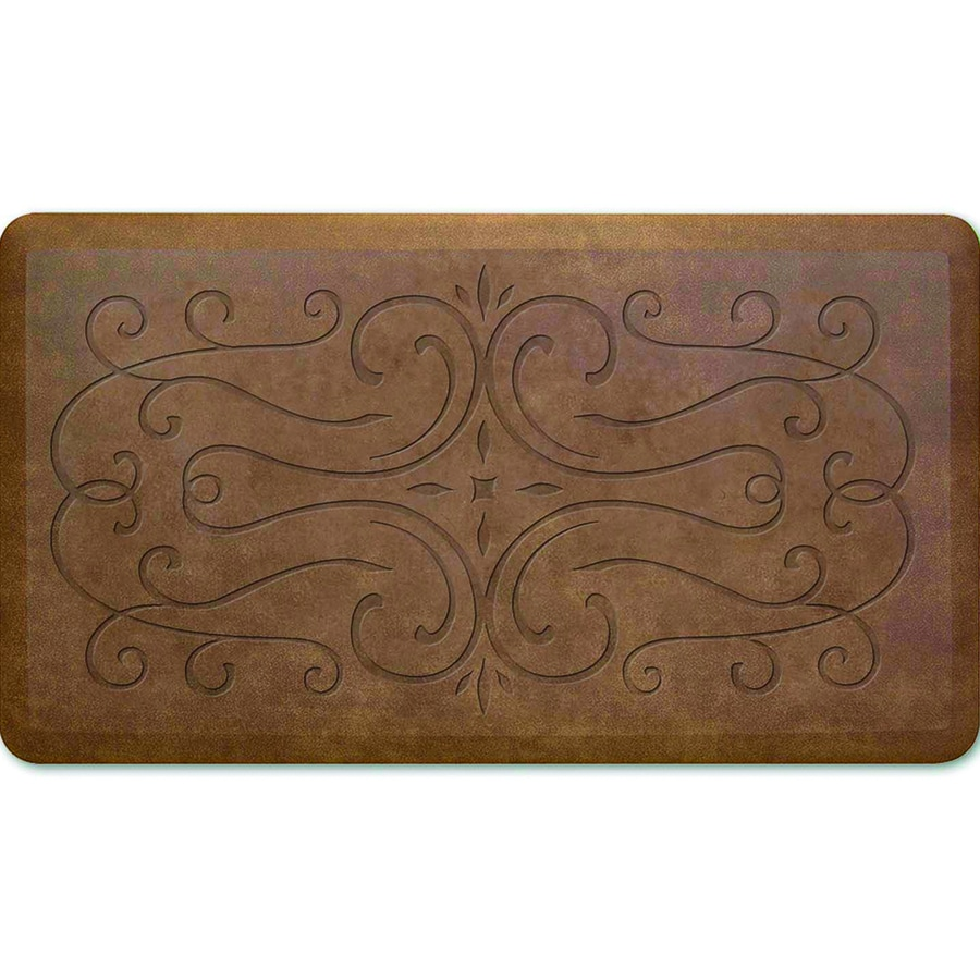 Apache Mills, Inc. Brown Rectangular Anti-Fatigue Mat (Common: 2-ft X 3-ft; Actual: 20-in x 36-in)