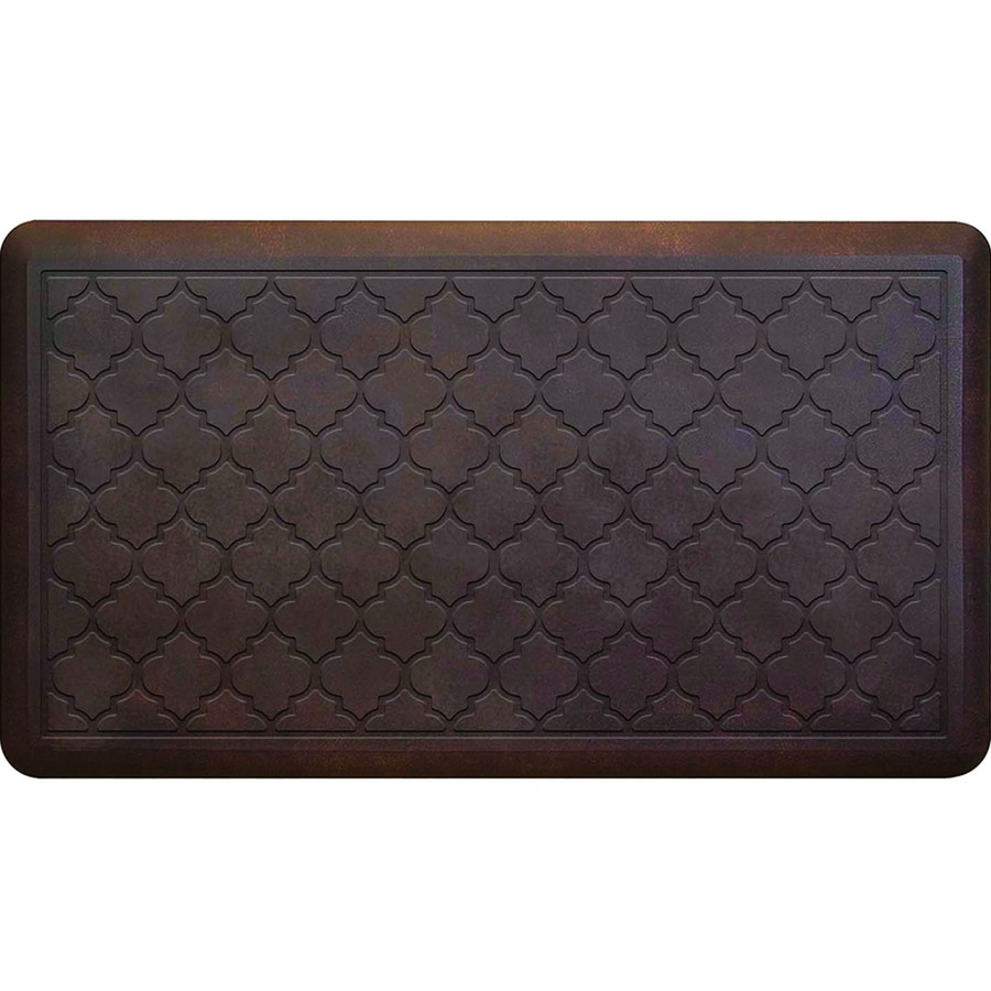 Apache Mills, Inc. Chocolate Quatrefoil Anti-Fatigue Mat (Common: 2-Ft x 3-Ft; Actual: 20-in x 36-in)
