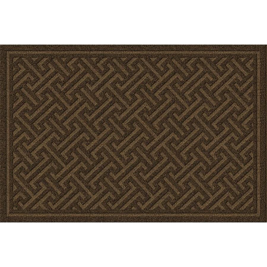 Apache Mills, Inc. Brown Rectangular Door Mat (Common: 1 1/2-ft x 2 1/2-ft; Actual: 18-in x 30-in)