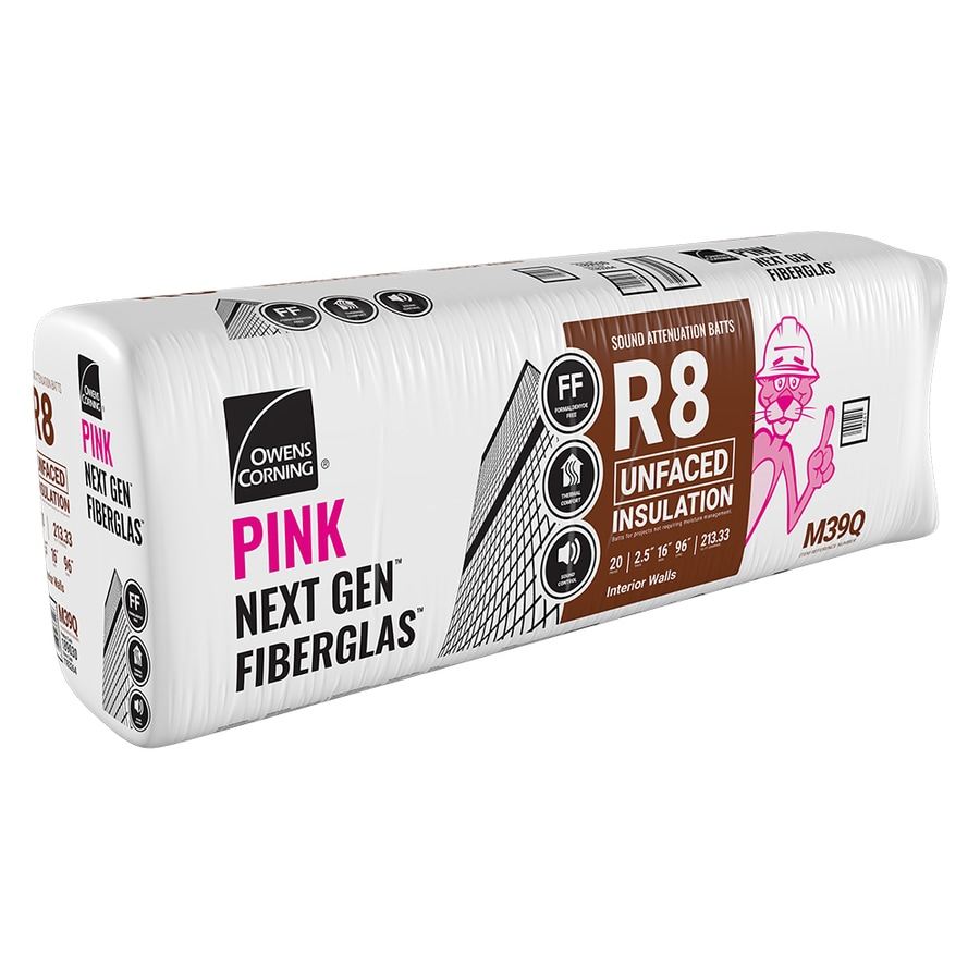Owens Corning R8 213.33-sq ft Unfaced Fiberglass Batt Insulation with Sound Barrier (16-in W x 96-in L)