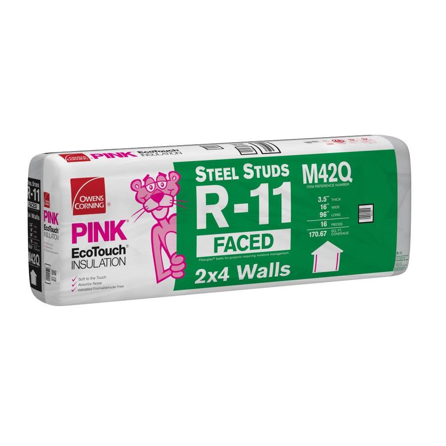 Owens Corning R 11 Fibergl Batt Insulation With Sound Barrier 16 In W