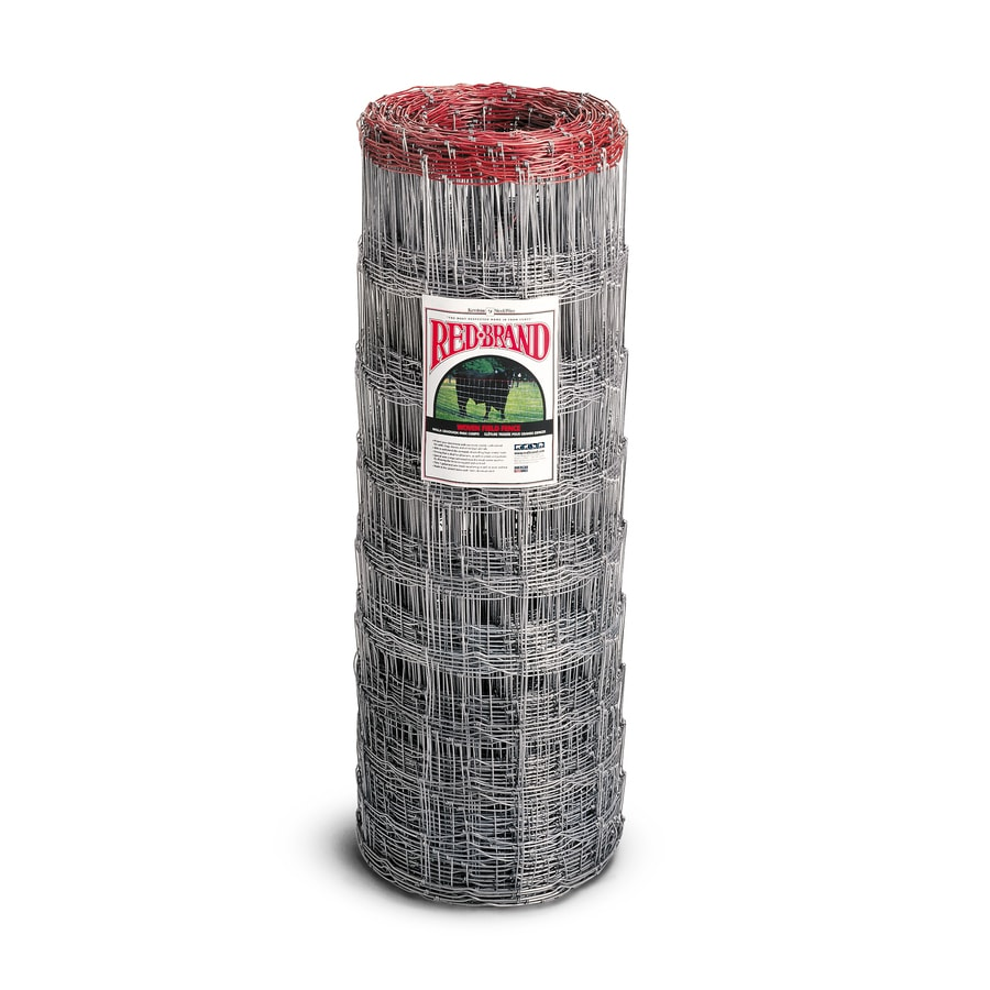 Red Brand (Actual: 330-ft x 4-ft) High Tensile field Fence Silver Steel Woven Wire Rolled Fencing