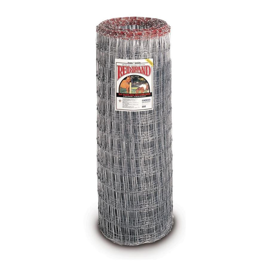Red Brand Field Fence Silver Steel Woven Wire (Common: 100-ft x 4-ft; Actual: 100-ft x 4-ft)