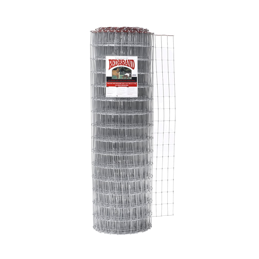 Red Brand (Actual: 200-ft x 4-ft) Field Fence Silver Steel Woven Wire Rolled Fencing