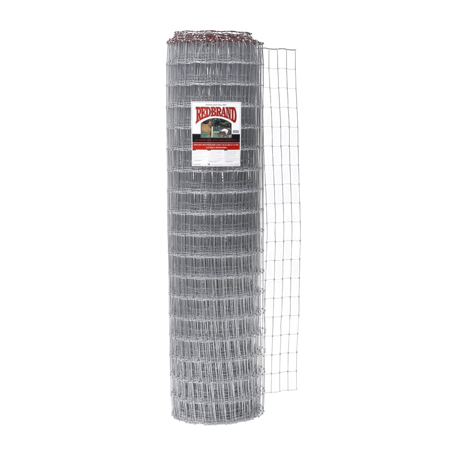 Red Brand Horse Fence Silver Steel Woven Wire (Common: 100-ft x 6-ft; Actual: 100-ft x 6-ft)