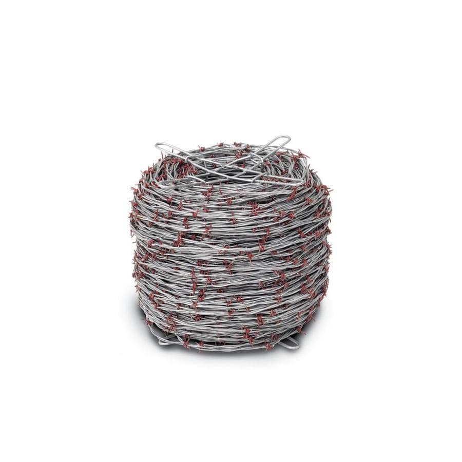 Red Brand (Actual: 1320-ft x 1-ft) Barbed Wire Silver Steel Barbed Wire Rolled Fencing