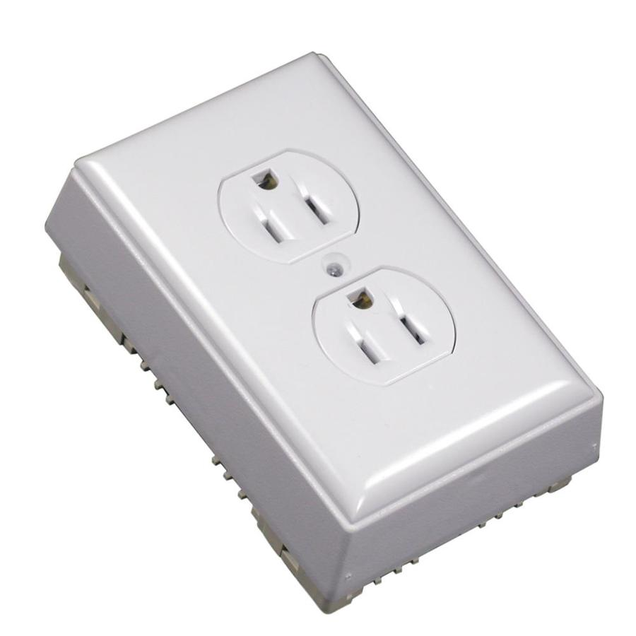 Wiremold NMW 1-Gang White Plastic Interior New Work Standard Switch/Outlet Wall Electrical Box