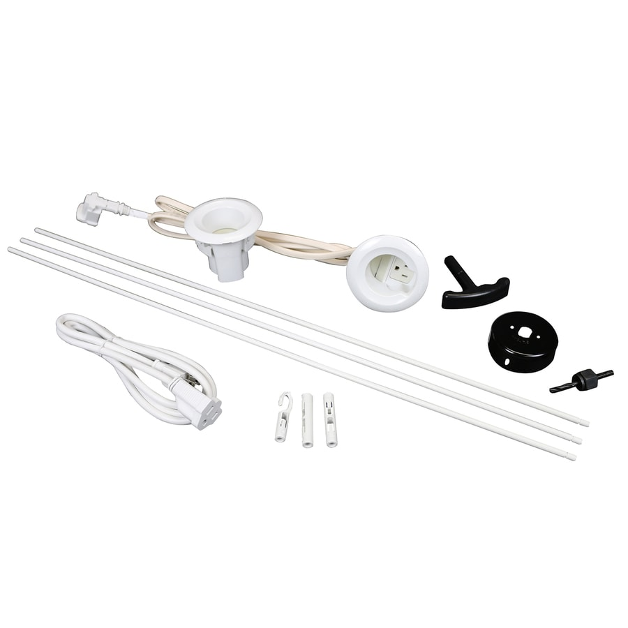 Wiremold 12-Piece 5.25-in x 72-in Flat Screen TV Kit White Cord Cover