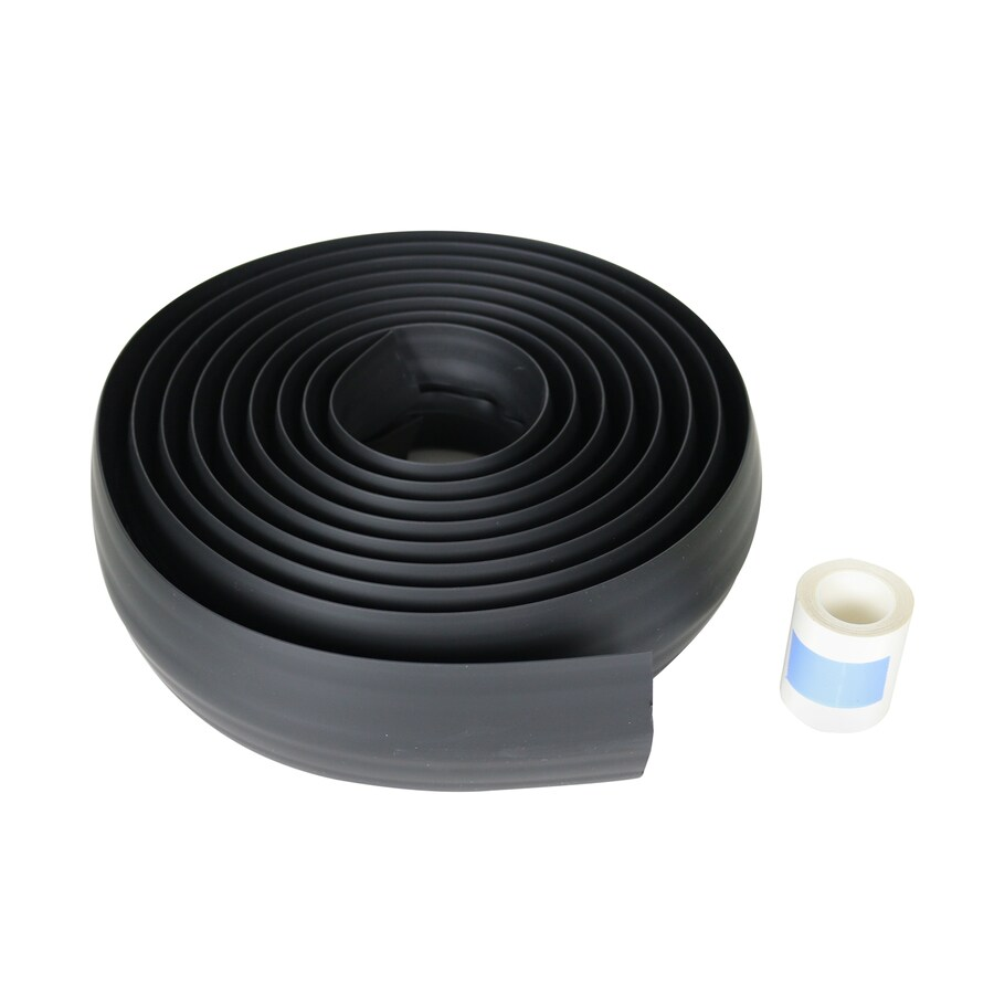 Wiremold 1-Piece 0.438-in x 180-in Overfloor Cord Protector Black Cord Cover